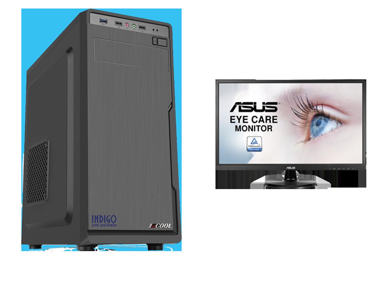 PC INDIGO by AMD & ASUS + LCD - AMD Ryzen 5 3600/1TB+256GB SSD/16G/GTX1660/DVD/W10